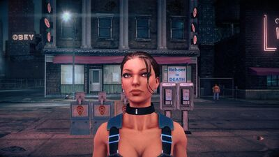 Shaundi - face with Super Powers in Saints Row IV