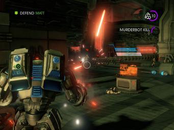 Matt's Back - Defend Matt objective with Murderbot Kill