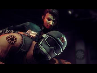 The Case of Mr. X - Asha threatening a Masako with a Quickshot Pistol