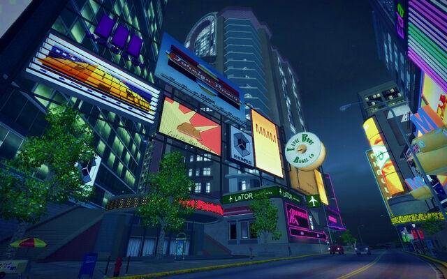 File:Brighton in Saints Row 2 - billboards at night.jpg