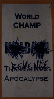 Angel's Gym Revenge Poster of world champ banner