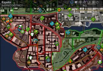 Map in Saints Row 2 - Barrio - Ezpata