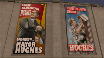 Richard Hughes banners - building for a better tomorrow
