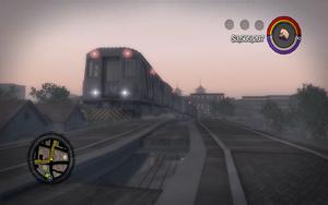 El Train stuck near Barrio tunnel