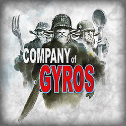 Company of Gyros - square sign