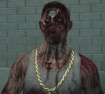 Zombie Carlos face closeup