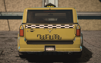 Saints Row IV variants - Kayak Taxi Average - rear