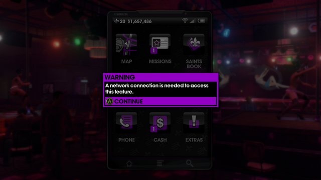 File:A network connection is needed to use the camera in Saints Row The Third.png