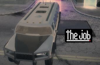 The Job - front right with logo in Saints Row 2