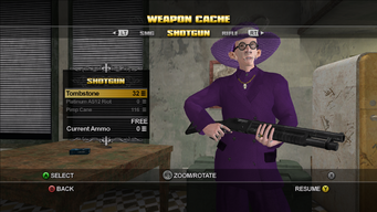 Saints Row Weapon Cache - Shotgun - Tombstone