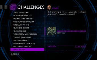 Challenge 40 Freeze Shatters