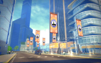 Mission Beach in Saints Row 2 - Stilwater banners