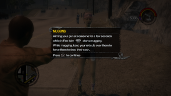 Mugging tutorial in Saints Row 2