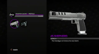45 Shepherd in the Weapon Cache