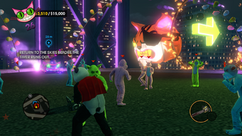 Fighting on a rooftop in Sad Panda Skyblazing