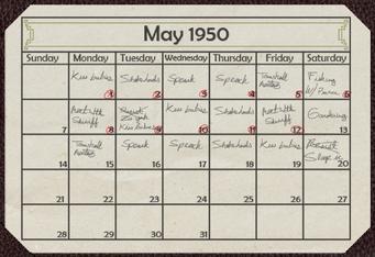 A Pleasant Day desk calendar