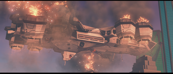 Daedalus exploding in cutscene