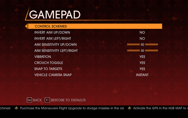 File:Saints Row Gat out of Hell - Main Menu - Options - Controls - Gamepad.png