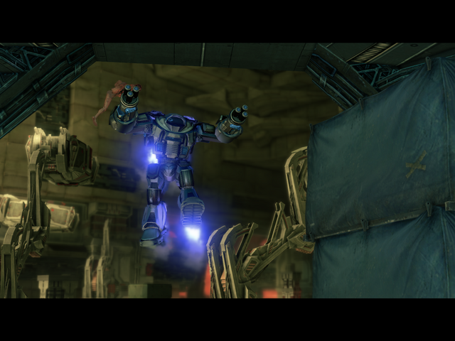 File:Matt's Back - Mech Suit flying into The Ship.png