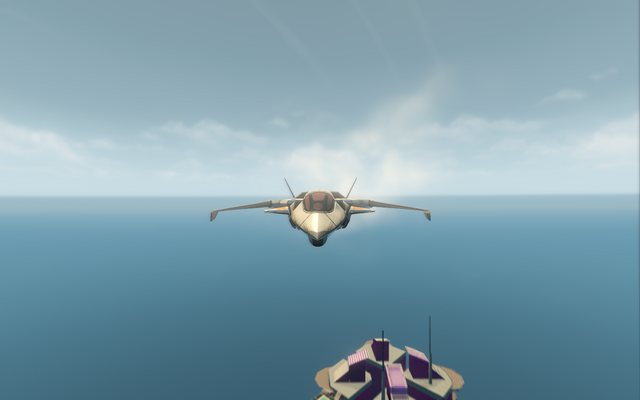 File:F-69 VTOL - jet mode - front in Saints Row The Third.png