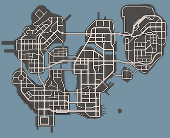 Low-detail promotional map of Steelport