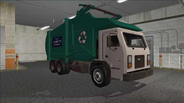 File:Saints Row variants - Stilwater Municipal - Recycle Truck - front right.png