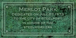 Merlot Park plaque in Ashwood