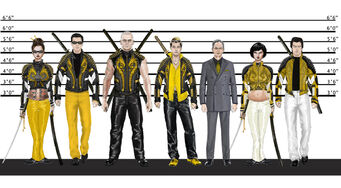 Ronin - concept art of Ronin members in a police line-up