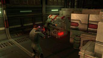 Gat finding a Lasergun Arm