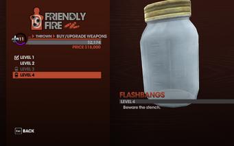 Flashbangs in Saints Row The Third - Level 4 description