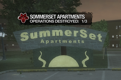 Summerset Apartments sign during Sommerset Apartments Stronghold