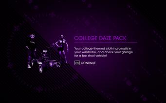 Saints Row IV DLC Unlock - College Daze Pack