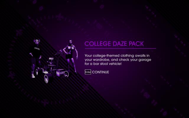 File:Saints Row IV DLC Unlock - College Daze Pack.png