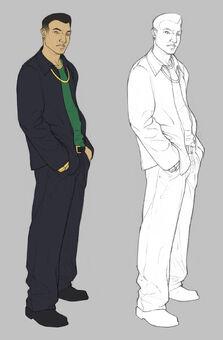 Johnny Gat Concept Art - dark hair and outline