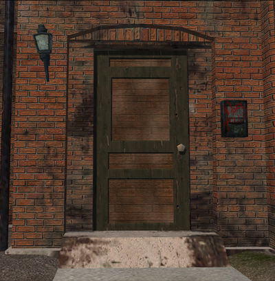 Saints Row Loft - closed front door