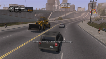 Hostage in Saints Row - Don't slow down or the hostage can escape