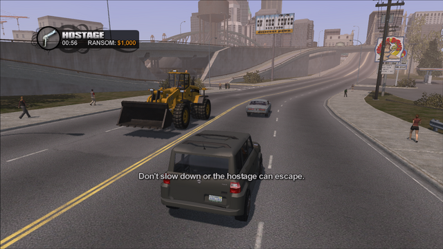 File:Hostage in Saints Row - Don't slow down or the hostage can escape.png