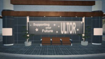 Rounds Square Shopping Center upstairs seatings and ultor sign