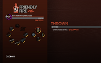 Thrown Weapon Menu in Friendly Fire in Saints Row The Third