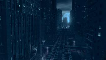 Saints Row IV Main Menu background - train tracks