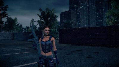 Shaundi - body with SWAT SMG