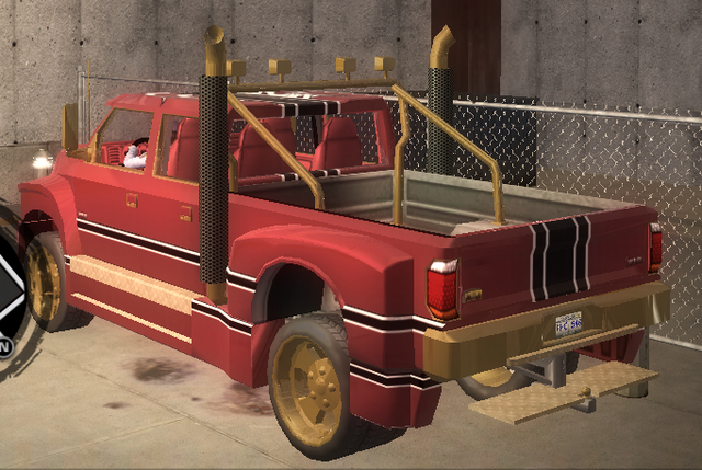 File:Brotherhood Compensator with Unique Hitch - rear left in Saints Row 2.png