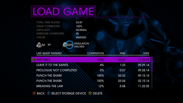 File:Load Game screen in Saints Row IV.png