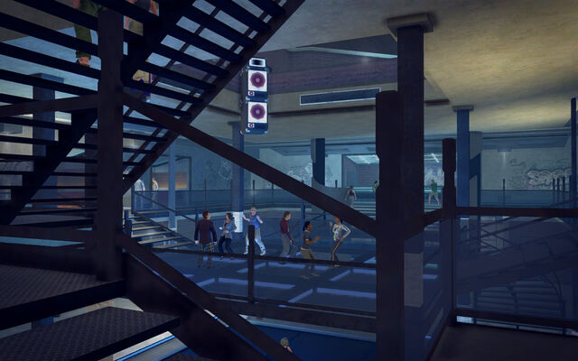 File:On Track in Saints Row 2 - mid level dance floor.jpg