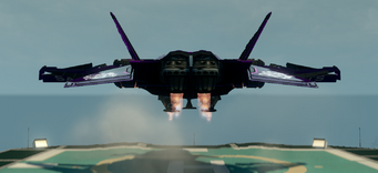 Saints Row The Third DLC vehicle - Saints VTOL - hover with landing gear - rear