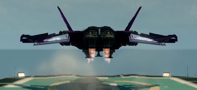 File:Saints Row The Third DLC vehicle - Saints VTOL - hover with landing gear - rear.png