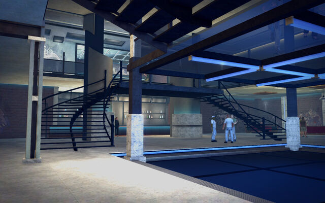 File:On Track in Saints Row 2 - bottom level stairs.jpg