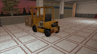 Saints Row variants - Forklift - industrial with crate - rear left