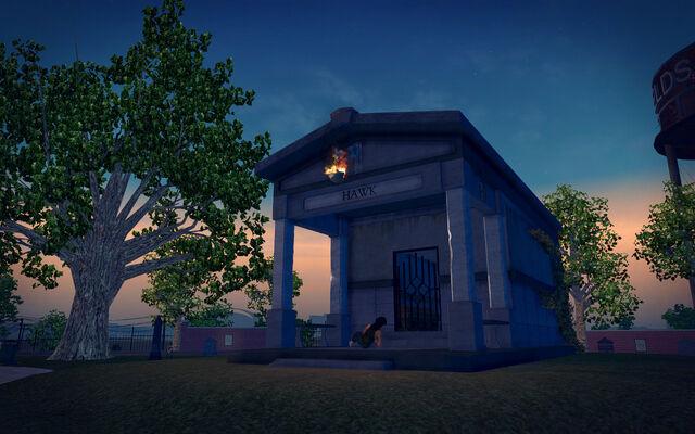 File:Mourning Woods Cemetery - Hawk mausoleum.jpg