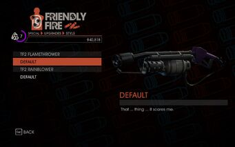 Weapon - Melee - Incinerator - TF2 Flamethrower